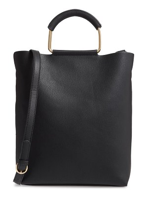 Trouve payton convertible faux leather tote