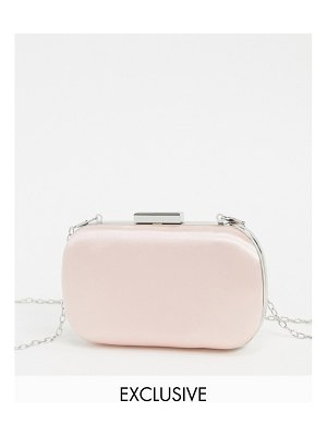 True Decadence exclusive light pink box clutch bag with detachable strap