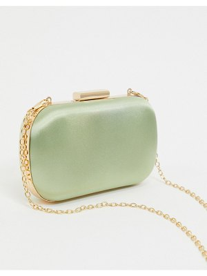 True Decadence exclusive pastel box clutch bag with detachable strap-gold
