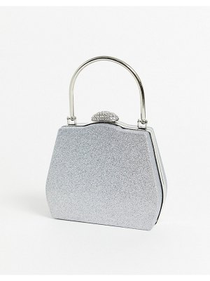 True Decadence structured grab bag in silver glitter