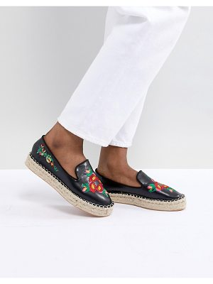 Truffle Collection Embroidered Espadrille