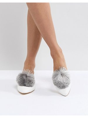 Truffle Collection Pom Mule Shoe