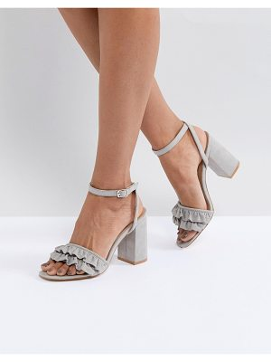 Truffle Collection Ruffle Block Heel Sandal