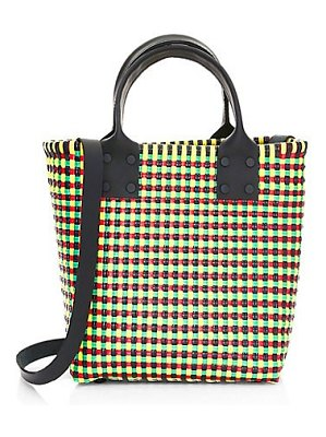 Truss small leather handle tote