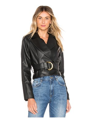 Tularosa Joan Faux Leather Jacket