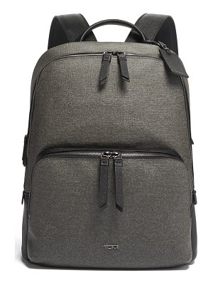 Tumi varek hudson faux leather backpack