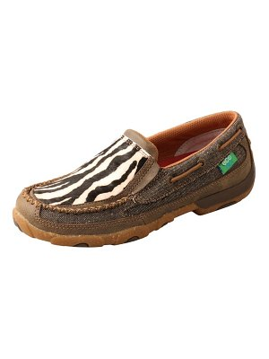 TWISTED X genuine calf hair driving moccasin