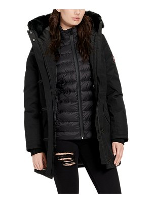 UGG Adirondack 3-in-1 Parka Coat w/ Fur-Trim Hood