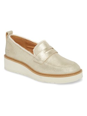 UGG atwater metallic wedge loafer