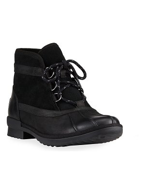 UGG Greda Waterproof Suede & Leather Ankle Boots