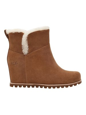 UGG seyline shearling-trimmed suede wedge boots