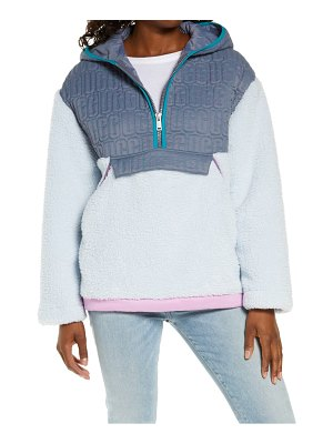 UGG ugg iggy faux fur hooded half-zip pullover