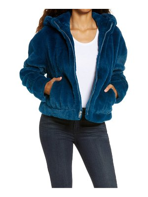 UGG ugg mandy faux fur hooded jacket