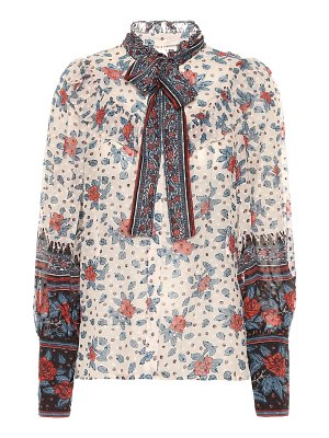 Ulla Johnson antoine floral silk georgette blouse