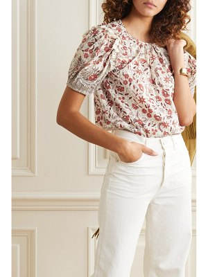 Ulla Johnson arbor ruffled floral-print cotton-voile top