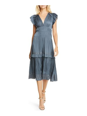 Ulla Johnson claudia ruffle midi dress