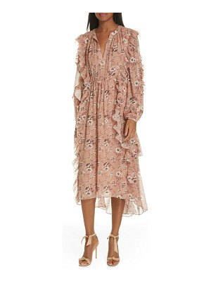 Ulla Johnson ellette floral print silk blend midi dress
