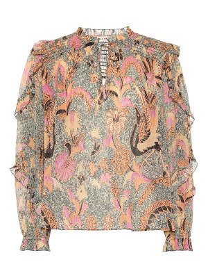 Ulla Johnson lara cotton and silk-blend blouse