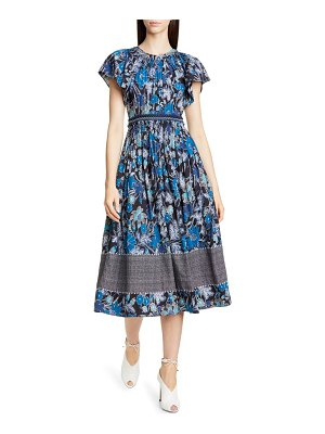 Ulla Johnson lottie floral print midi dress