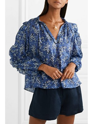 Ulla Johnson manet floral-print cotton and silk-blend blouse