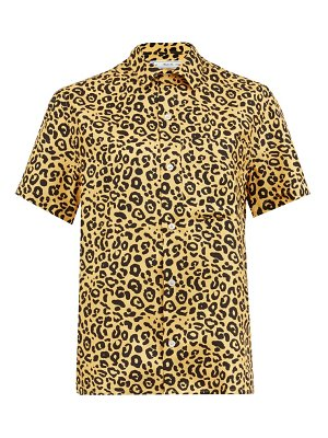 Umit Benan B+ chest-pocket leopard-print silk shirt