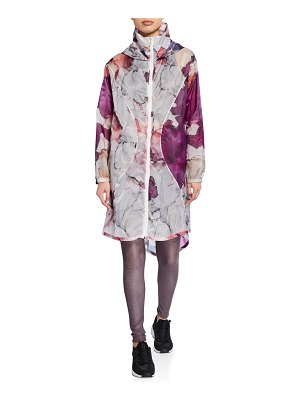 Under Armour Floral Hooded Zip-Front Active Jacket