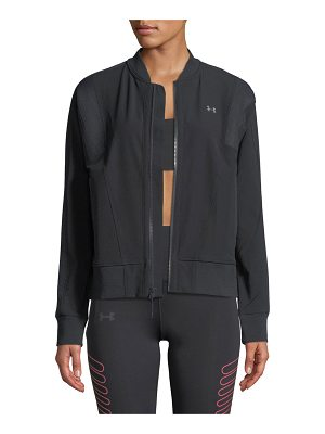 Under Armour Mixed-Media Woven Bomber Jacket