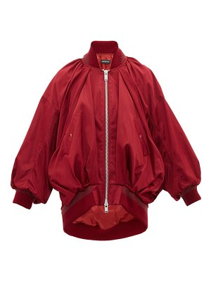 Undercover draped silk-satin bomber jacket