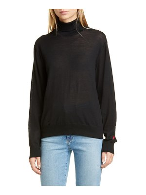 Undercover rose embroidered wool turtleneck sweater