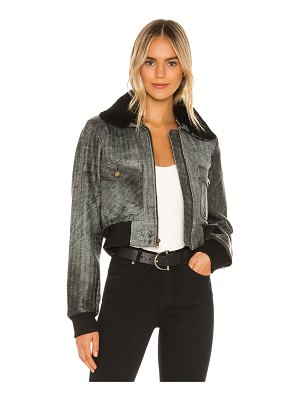 Understated Leather Ultimate spirit bomber jacket with shearling collar