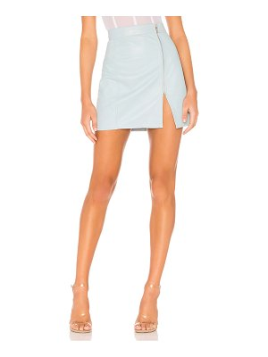 Understated Leather Ultimate x revolve high waisted zip skirt