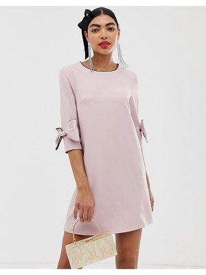 UNIQUE21 dress with bow detail-pink