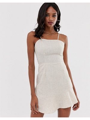 UNIQUE21 ruffle hem cami dress-white