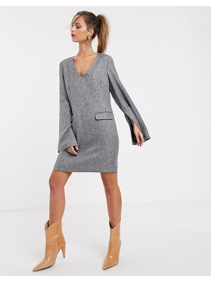 UNIQUE21 wide sleeve smock dress-gray