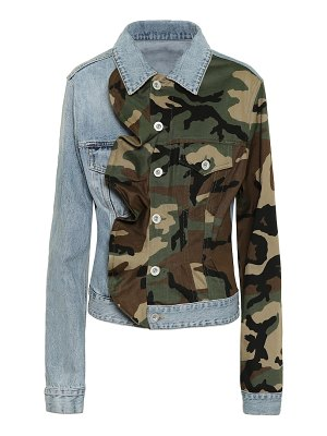 Unravel camo-print denim jacket