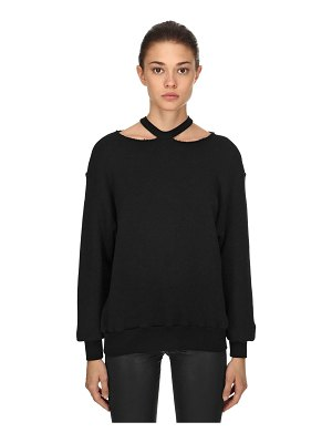 Unravel Cutout shoulders cotton sweatshirt