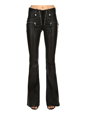 Unravel Flared lace-up leather pants
