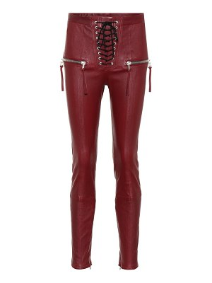 Unravel lace-up leather pants