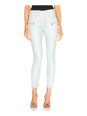 Unravel Leather Lace Up Skinny