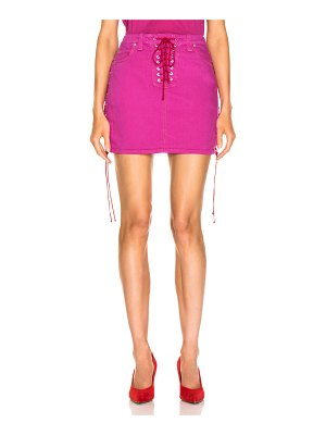 Unravel overd side lace up skirt