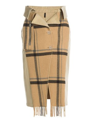 Unravel Project double-breasted mackintosh trench skirt