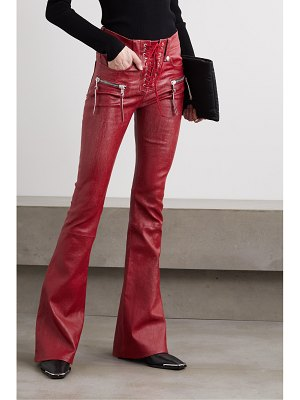 Unravel Project lace-up leather flared pants