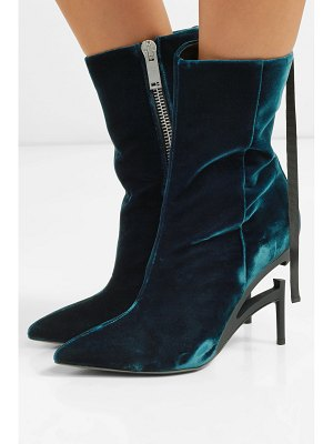 Unravel Project velvet ankle boots