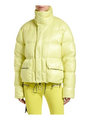 Unravel Shiny Nylon Puffer Coat