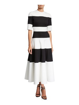 UNTTLD Adelia Wide-Striped Fit & Flare Cocktail Dress