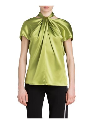 UNTTLD Satin Halter Knotted Top