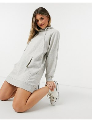 Urban Bliss hoodie dress in light gray-grey
