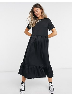 Urban Bliss smock dress in black
