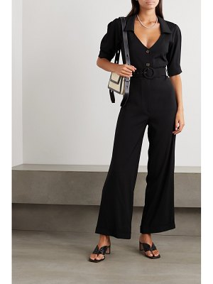 USISI SISTER gillian belted cady jumpsuit