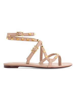 Valentino 10mm rockstud flair leather thong sandal